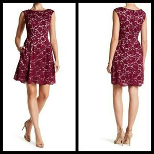 Vince Camuto lace flare dress.